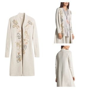 Chico's Sequin Embroidered Tracy Cardigan